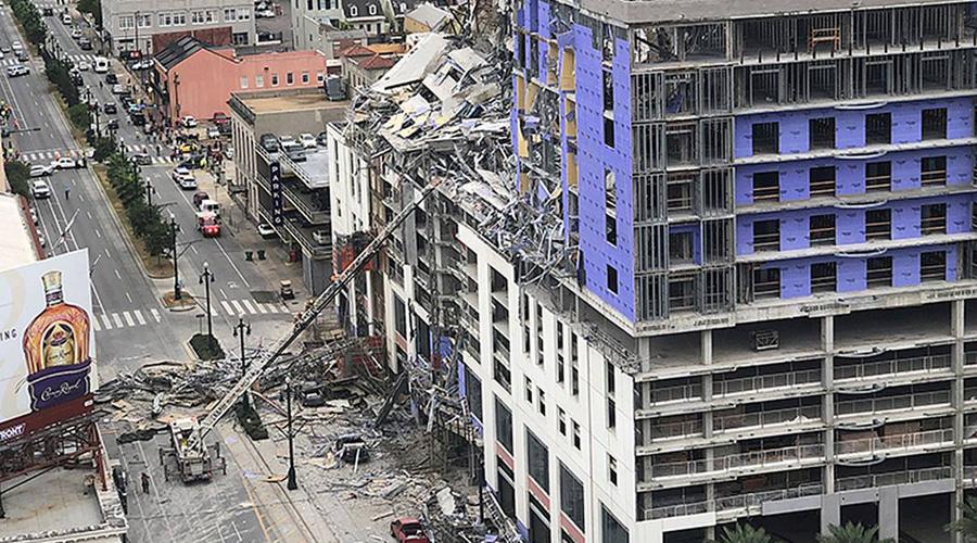 Video: estructura de hotel en construcción colapsa sobre transeúntes   El Imparcial de Oaxaca
