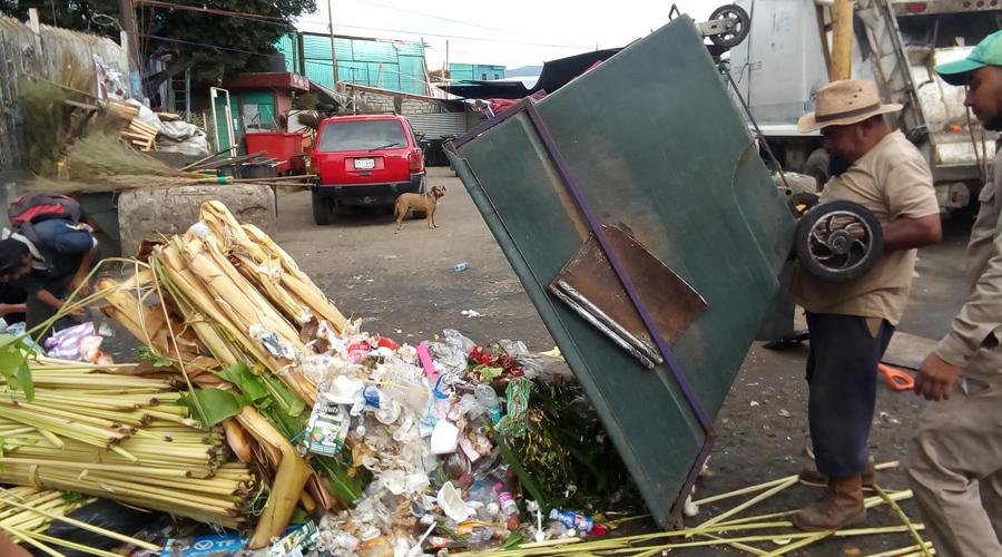Recogen al día en la Central de Abasto cien toneladas de basura
