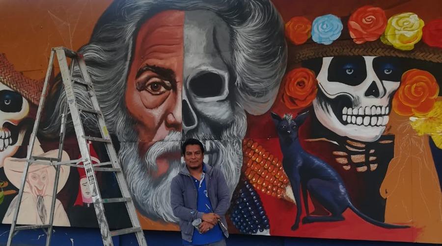 Toledo inspira mural de Noel Gómez Lorenzo