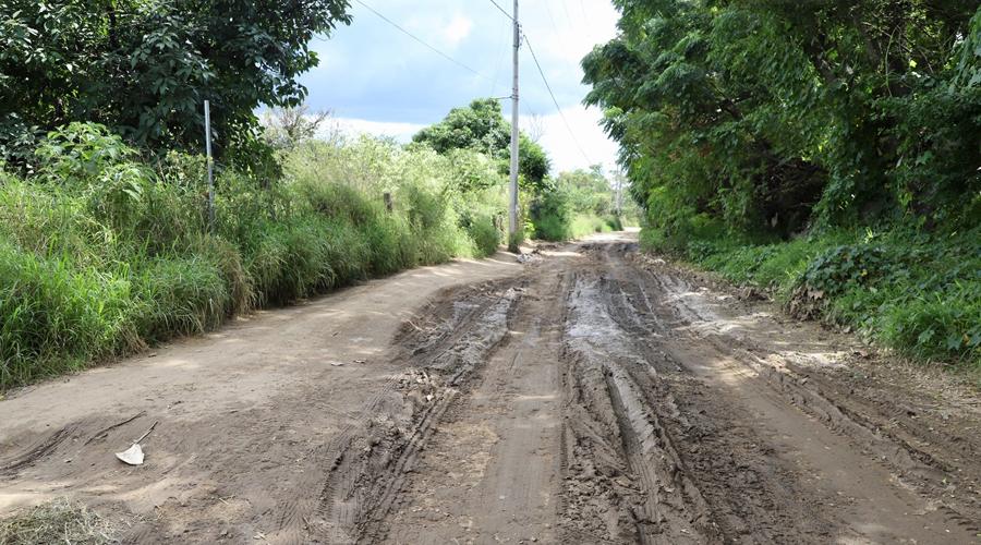 Piden a autoridades pavimentar un camino de terracería