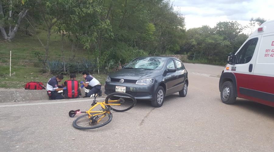 Arrollan a ciclista rumbo a Monte Albán | El Imparcial de Oaxaca