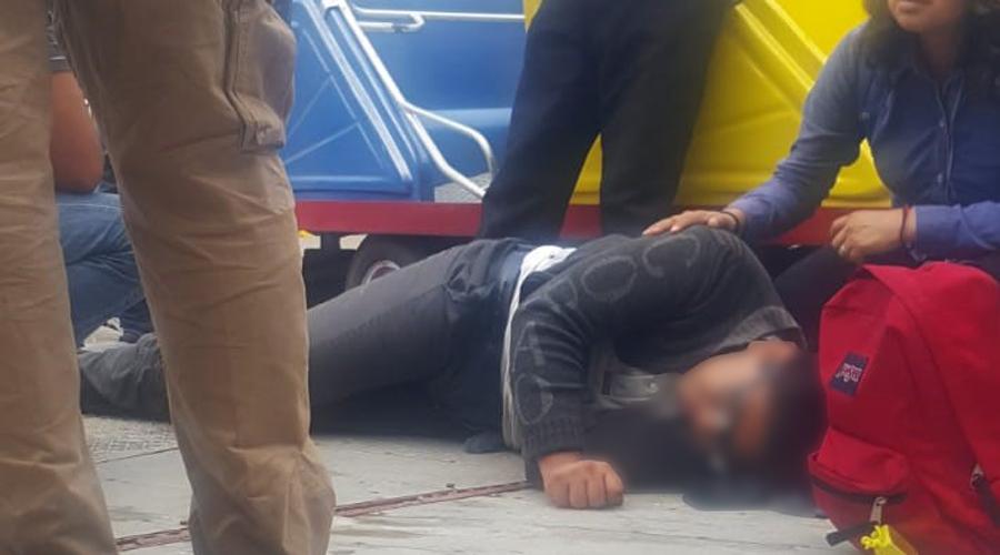 Joven estudiante cae de juego mecánico en Tlacolula
