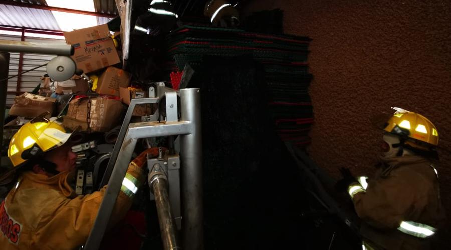 Conato de incendio en bodega de la Cecude