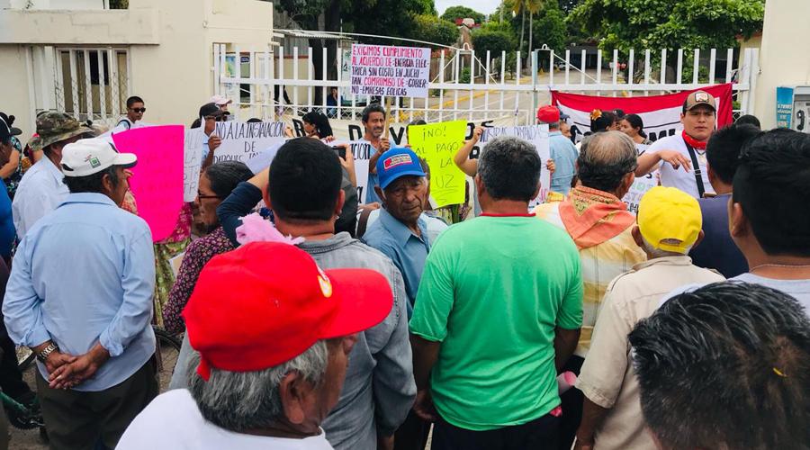 Insisten en condonación de la energía eléctrica en el Istmo de Tehuantepec