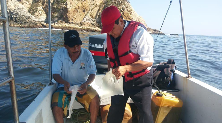 Algas invaden playas de Huatulco