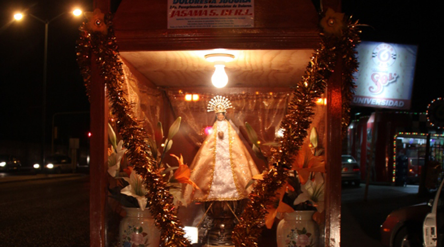 Peregrinos y la fe por la Virgen de Juquila