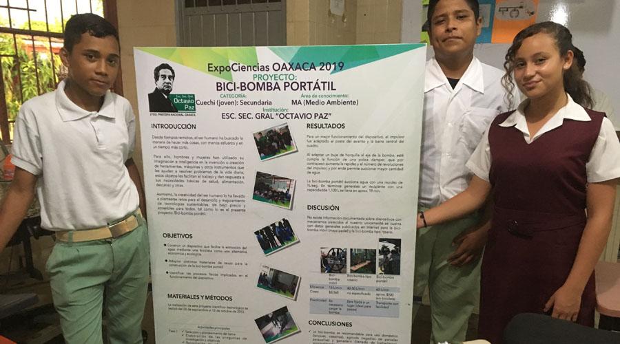 Alumnos de Pinotepa presentan proyecto científico en Monterrey
