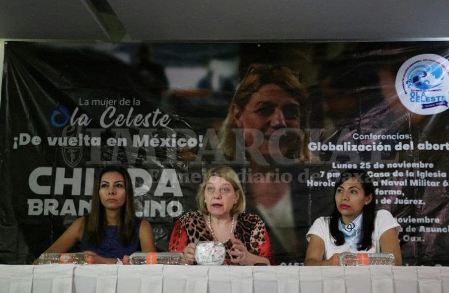 Chinda Brandolino relaciona legalización del aborto en Oaxaca con deuda ante el FMI