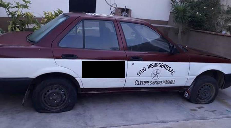 Taxi desaparece en la Vicente Guerrero   El Imparcial de Oaxaca