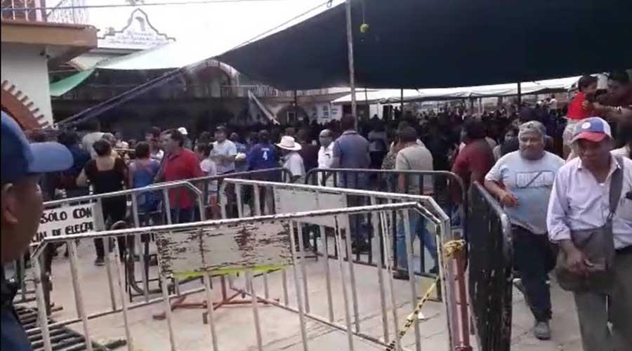 Suspenden elecciones en San Agustín de las Juntas