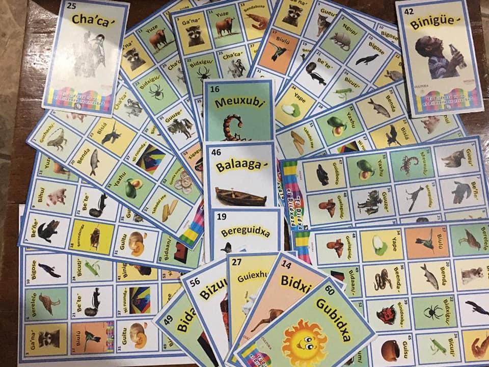 Elaboran lotería en lengua zapoteca en Unión Hidalgo