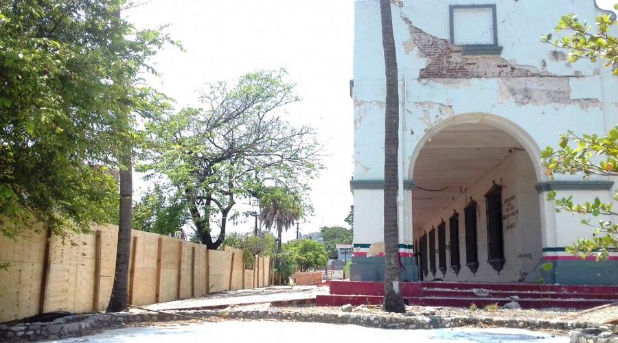 A paso lento, restauración del Palacio Federal dañado en 2017 | El Imparcial de Oaxaca