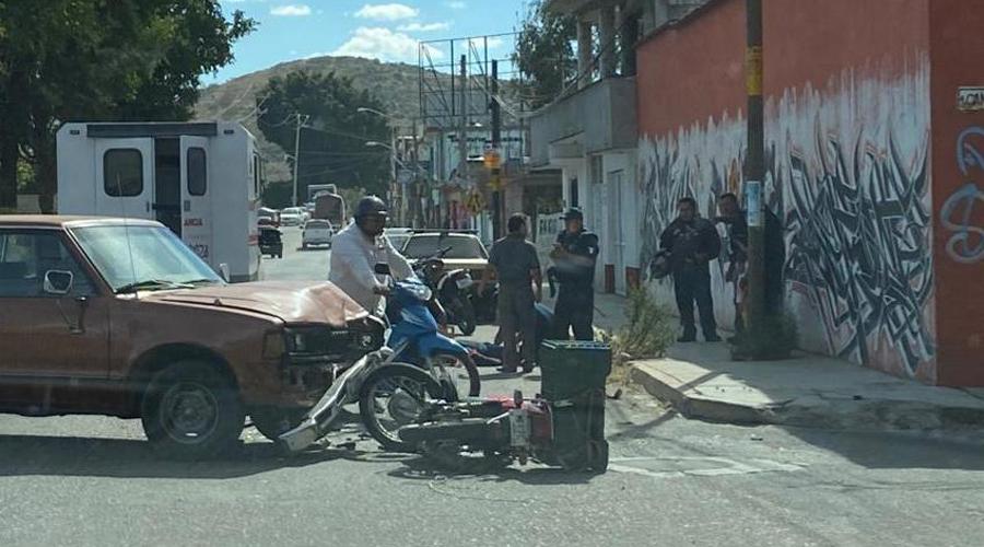 Arrollan a motociclista en Santa Lucia del Camino