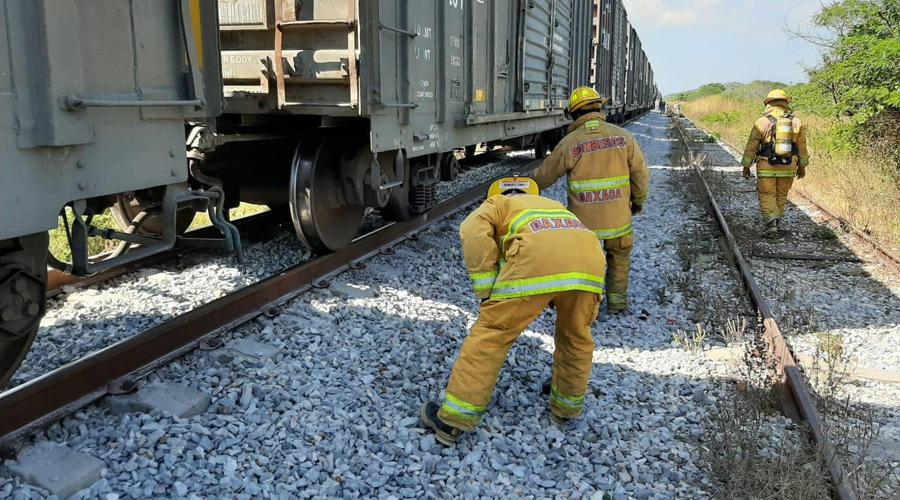 Se descarrila tren en Chivela