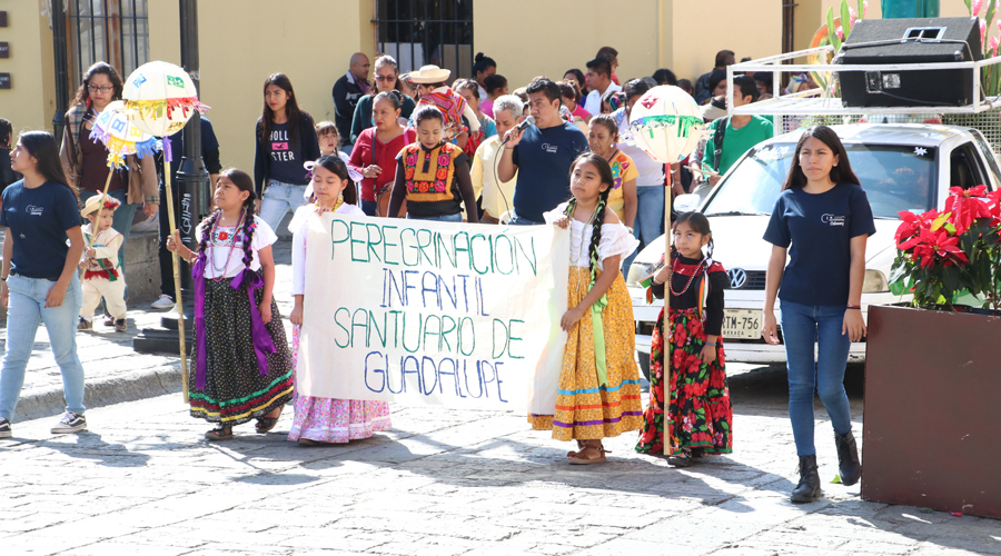 Vive el fervor guadalupano en Oaxaca