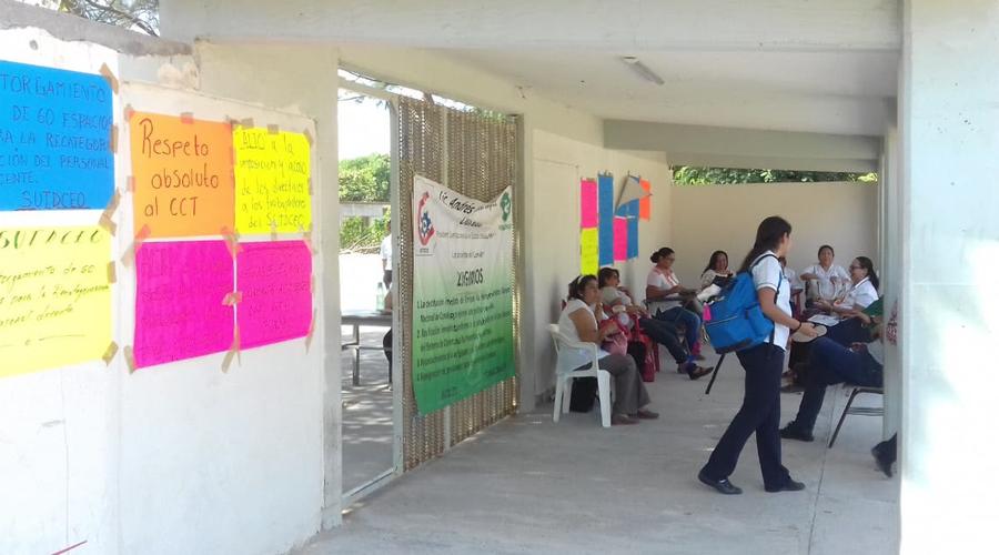 Para labores Conalep 155 en Salina Cruz