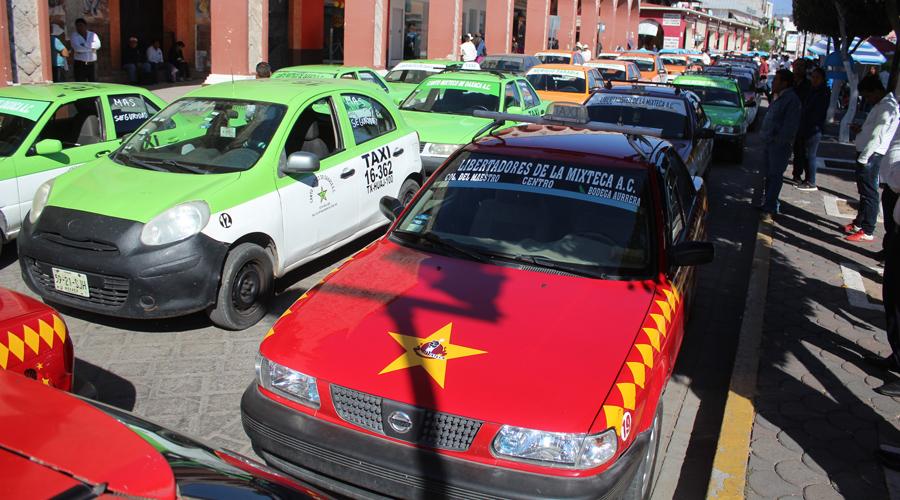 El gremio de taxistas exige mayor seguridad en Huajuapan de León