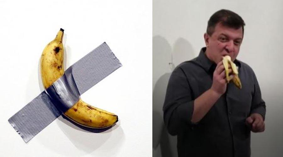 VIDEO: Se come obra de arte de la banana valorada en 120.000 dólares | El Imparcial de Oaxaca
