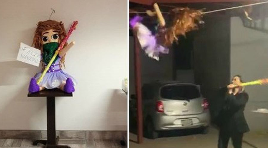 Abogados causan polémica al romper una piñata de una feminista   El Imparcial de Oaxaca