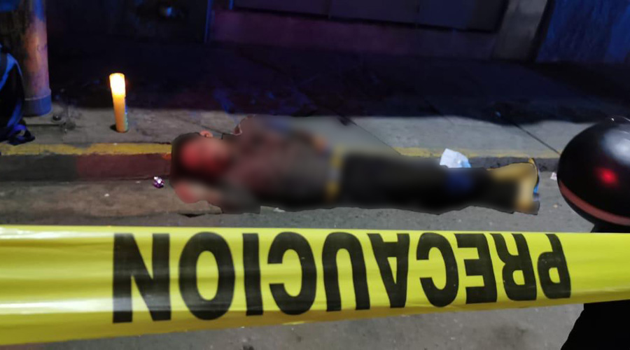 Muere en la calle