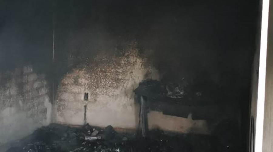 Incendio en casa habitación