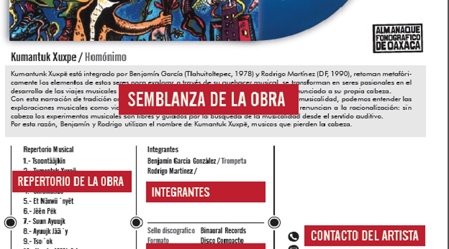Almanaque reunirá la música y los sonidos de Oaxaca