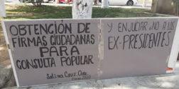 En Salina Cruz, exigen juicio político a ex presidentes