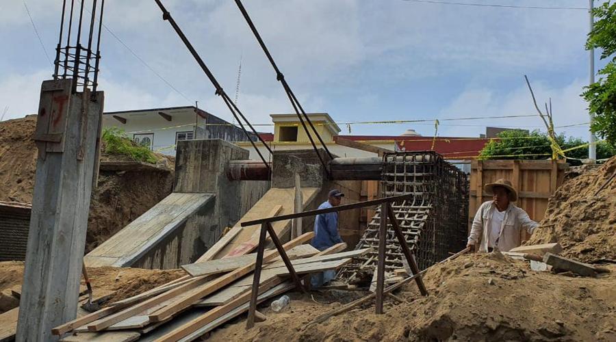 El puente colgante de San Bartolo quedará listo en febrero