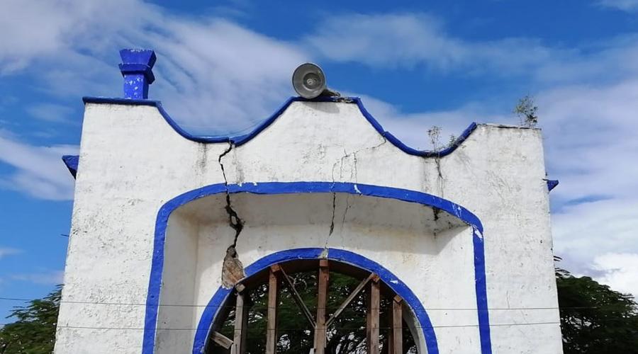 Registran daños en Santa María Petapa por último sismo
