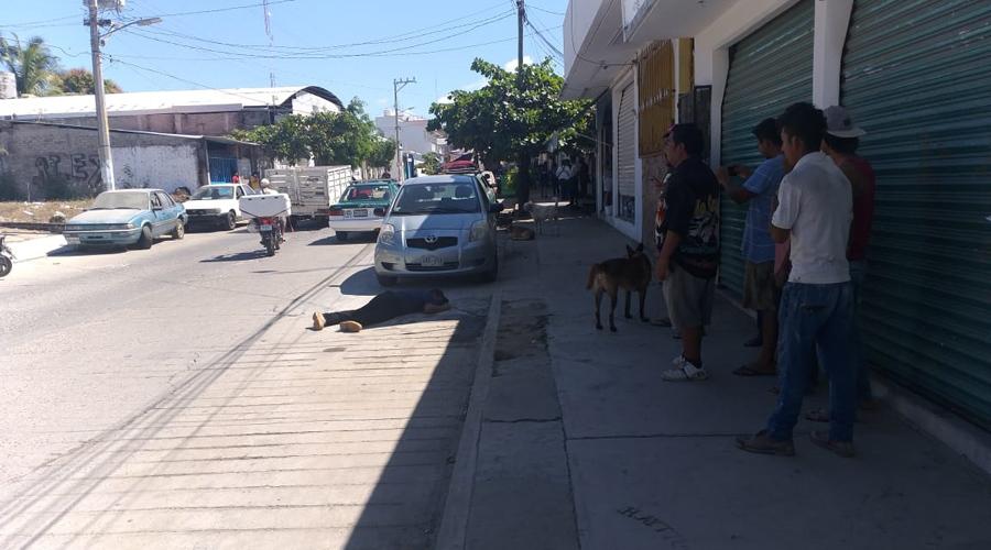 Balaceados en centro de Puerto Escondido