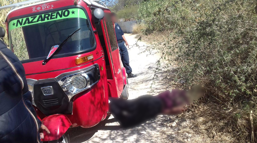 Ejecutan a un mototaxista en Nazareno Etla