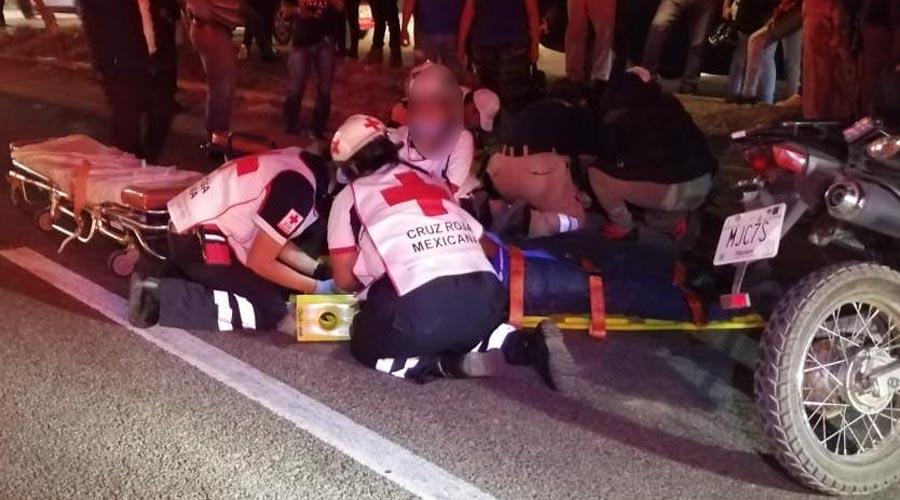 Mujer resulta seriamente lesionada tras derrapar | El Imparcial de Oaxaca