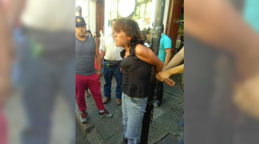 Exhiben a mujer acusada de robo | El Imparcial de Oaxaca