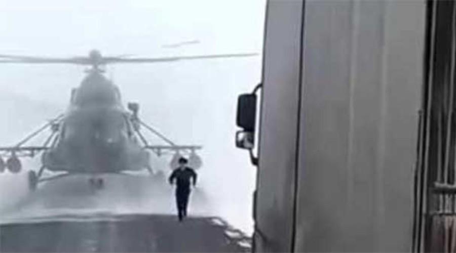 Video: Piloto de helicóptero se 'baja' a preguntar por una dirección   El Imparcial de Oaxaca