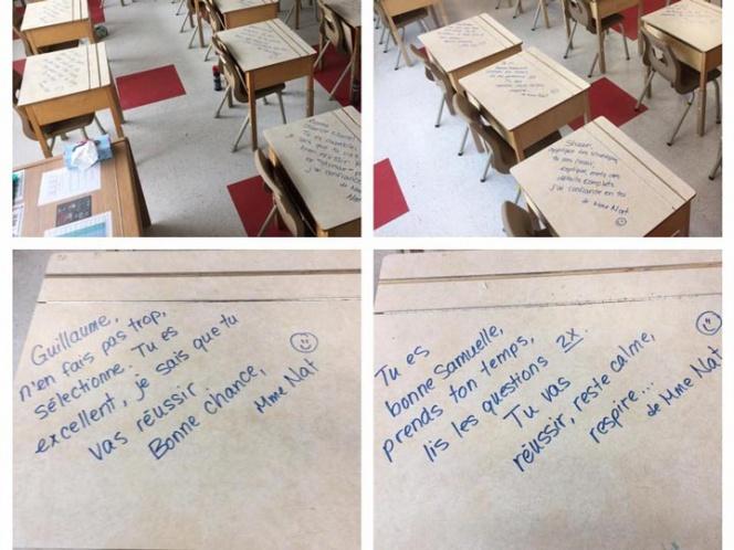 Maestra deja mensajes de apoyo a alumnos durante exámenes | El Imparcial de Oaxaca
