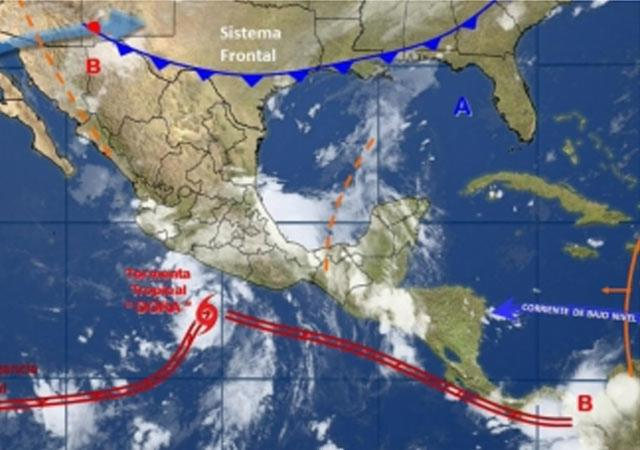 Tormenta tropical Dora se forma frente a costa de México | El Imparcial de Oaxaca