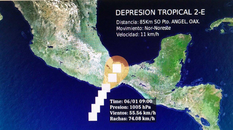 Activan protocolo de emergencia ante el paso de la depresión tropical 2-E en Oaxaca | El Imparcial de Oaxaca