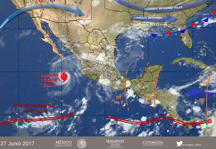 Tormenta Dora se debilita y aleja de las costas del país | El Imparcial de Oaxaca