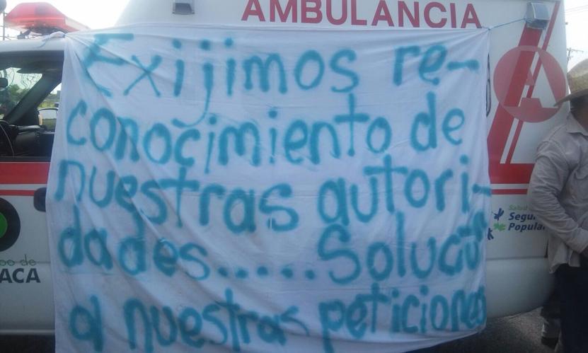 Exigen reconocimiento  de agente municipal  en la Venta   El Imparcial de Oaxaca