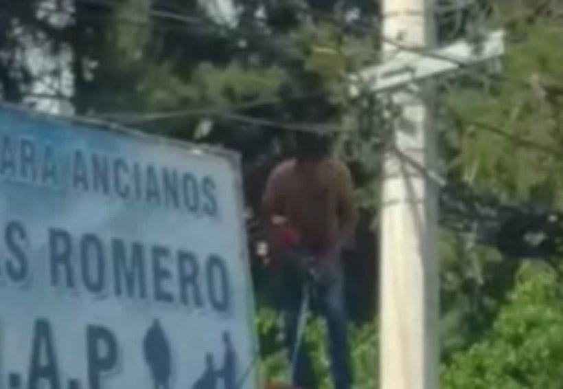 Video: Hombre se lanza sobre cables de alta tensión | El Imparcial de Oaxaca