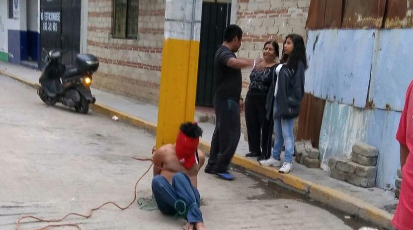 Lo acusan de robo, lo detienen y exhiben en Oaxaca   El Imparcial de Oaxaca
