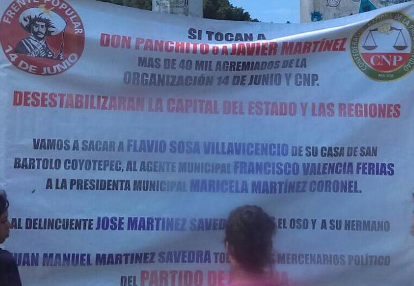 Exhiben mantas al más puro estilo de la mafia en Oaxaca | El Imparcial de Oaxaca