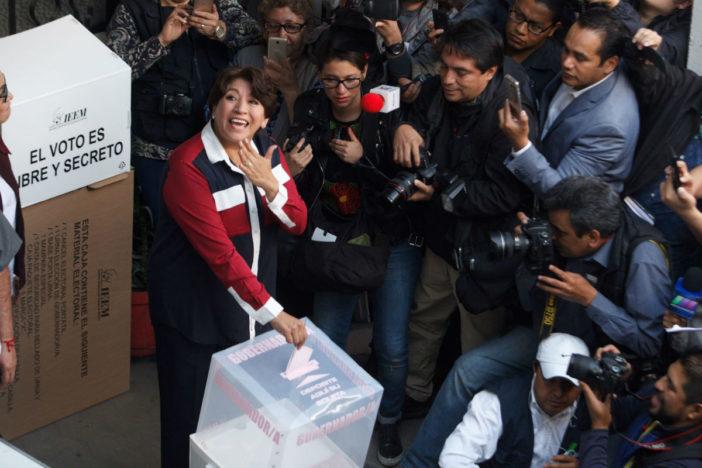 Delfina Gómez vota en Texcoco; pide que dejen a los mexiquenses sufragar con tranquilidad | El Imparcial de Oaxaca