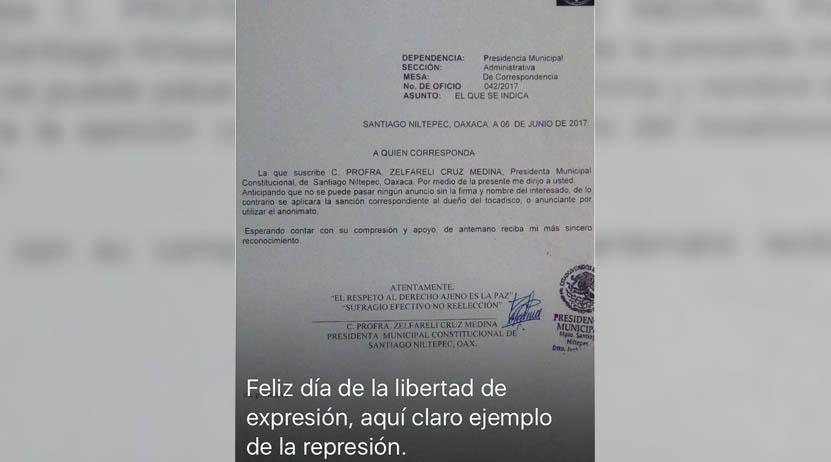 Denuncian que alcaldesa atenta  contra la libertad de expresión | El Imparcial de Oaxaca