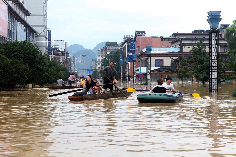 Lluvias ahogan a China; al menos 16 muertos y casi 100 mil evacuados   El Imparcial de Oaxaca