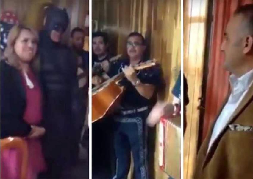 Alcaldesa del Edomex lleva mariachi y ¿a Batman? para festejar a su novio | El Imparcial de Oaxaca
