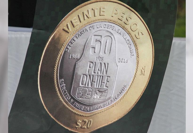 Nueva moneda de $20 conmemora '50 años del Plan DN-III-E' | El Imparcial de Oaxaca