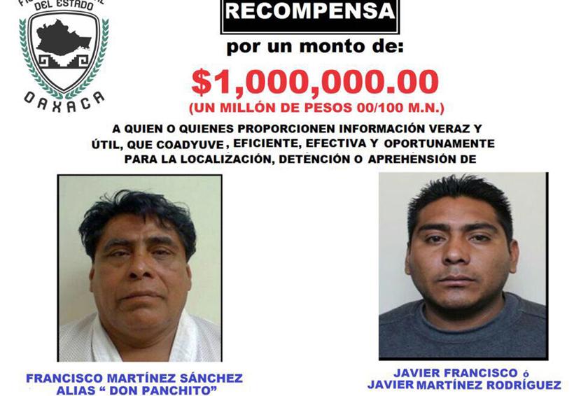 """Ofrecen un millón por """"Don Panchito""""   El Imparcial de Oaxaca"""