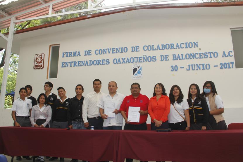 CBTIS 26 y entrenadores  de basquetbol   El Imparcial de Oaxaca