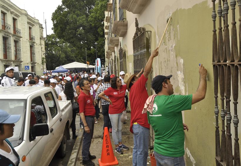 Sin convocatoria Tequio por Oaxaca; sólo participaron burócratas | El Imparcial de Oaxaca
